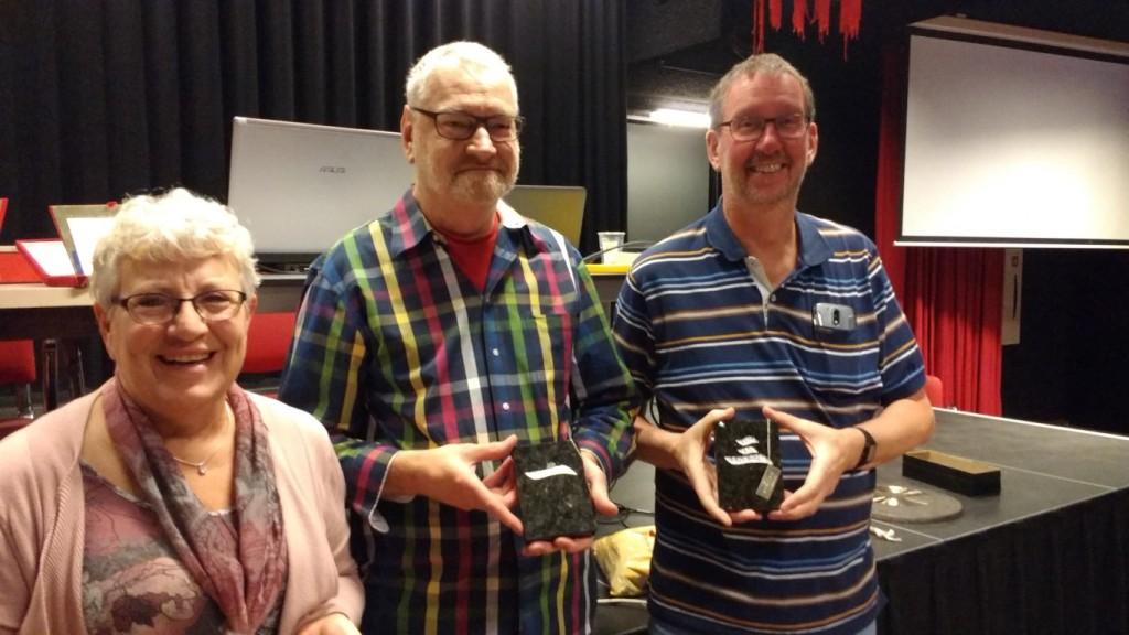 Franka de Vries (2e) - John van Amelsfoort (winnaar) - Michel Lamers (3e)