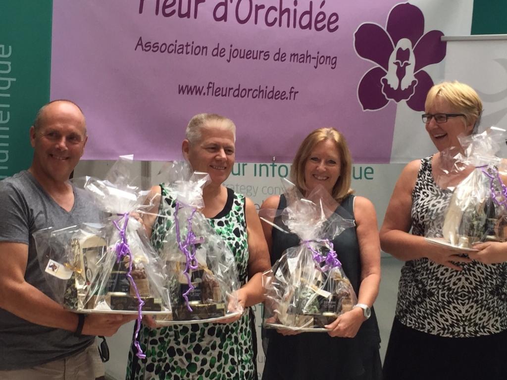 Het winnende team: Ad van der Linden, Gerda van Oorschot, Pauline van der Linden en Eveline Broers