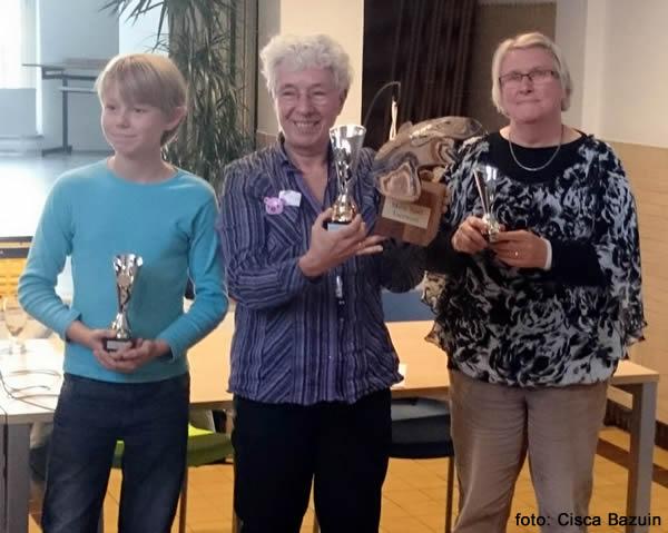 vlnr Luuk van Balkum, Lies Boskamp-Dik en Nanny Verheijen