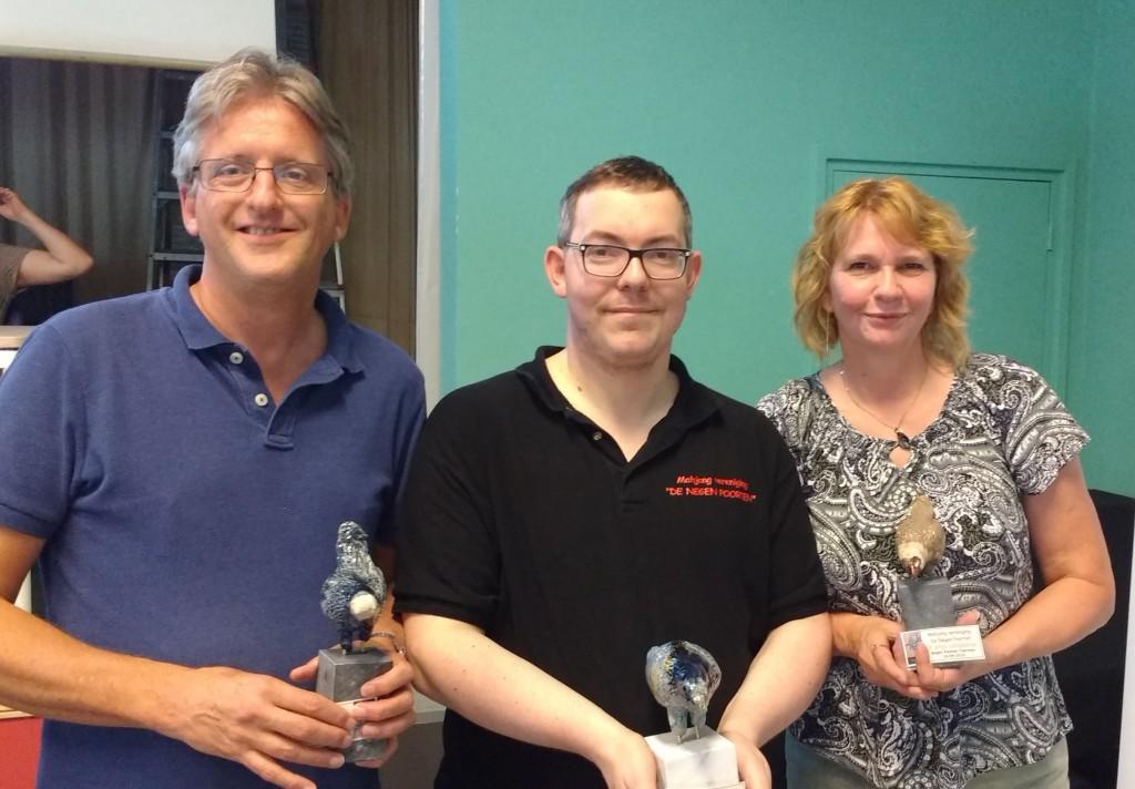 Anton Kösters (2e) - Bert Claessen (winnaar) - Cisca Bazuin (3e)