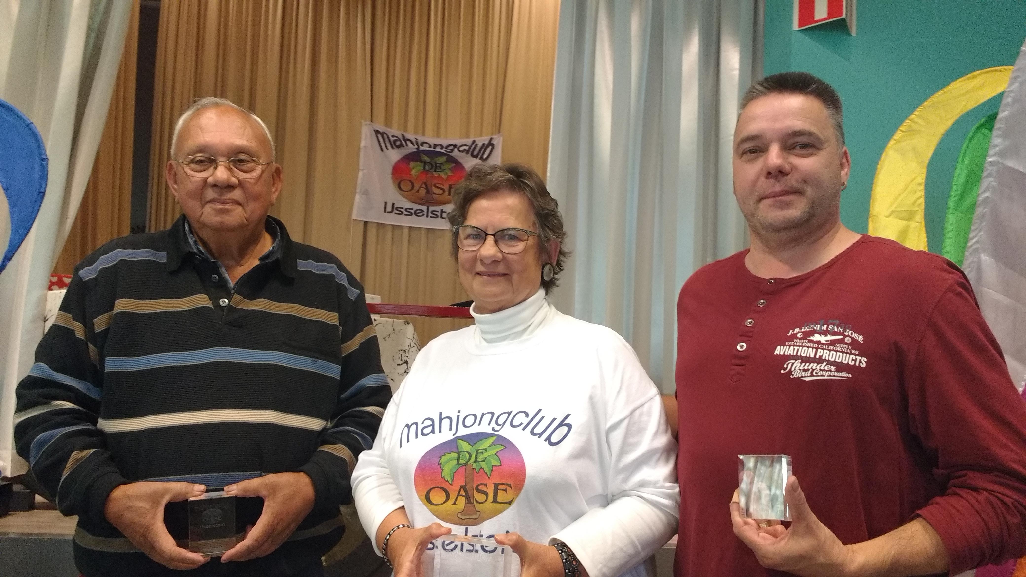 vlnr: Bert van Essen (2e) - Janet Vlug (winnaar en Nederlands Kampioen) - Peter Welters (3e)