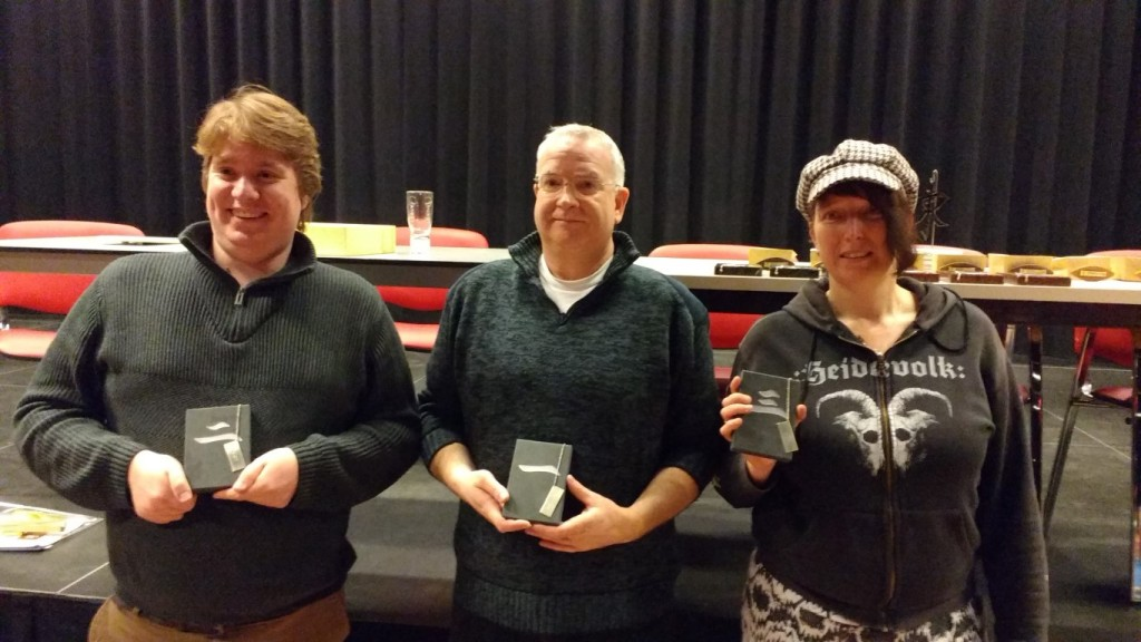 Pieter Potmeer (2e) - Olav Sommers (winnaar) - Angelique Delfsma (3e)