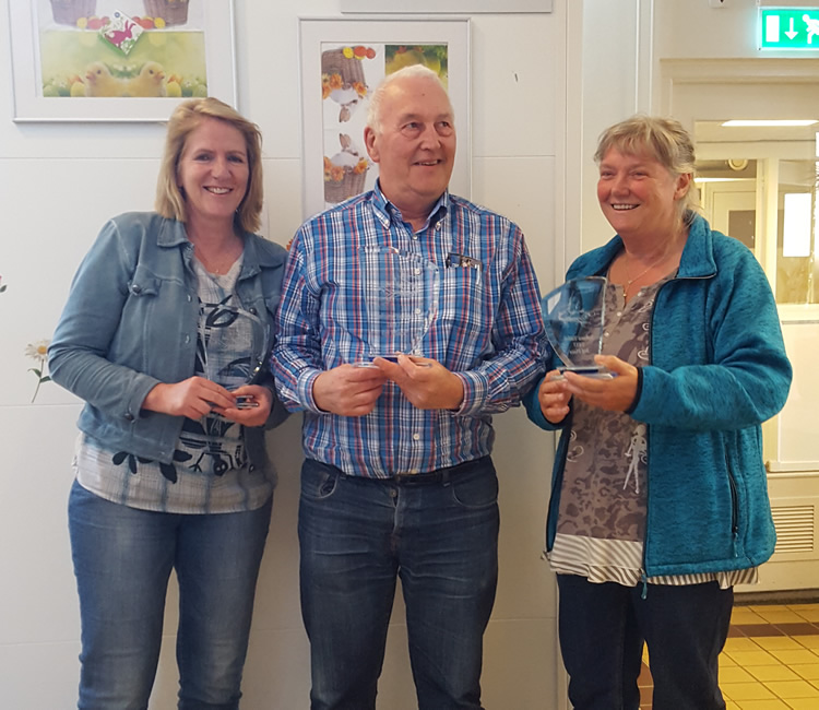 vlnr: Diana van de Wetering (2)  -  Janco Onnink (winnaar)  -  Ans Hoogland (3e)